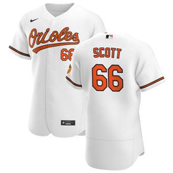 Men's Baltimore Orioles #66 Tanner Scott White Home 2020 Authentic Player Baseball Jersey