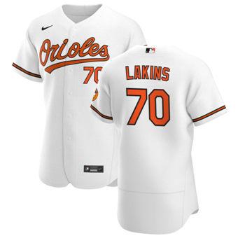 Men's Baltimore Orioles #70 Travis Lakins Sr. White Home 2020 Authentic Player Baseball Jersey