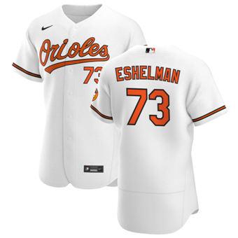 Men's Baltimore Orioles #73 Thomas Eshelman White Home 2020 Authentic Player Baseball Jersey