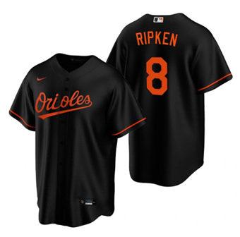 Men's Baltimore Orioles #8 Cal Ripken Jr. Black Cool Base Stitched Baseball Jersey