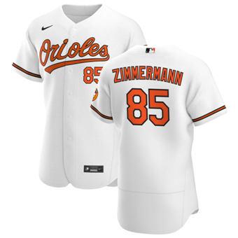 Men's Baltimore Orioles #85 Bruce Zimmermann White Home 2020 Authentic Player Baseball Jersey