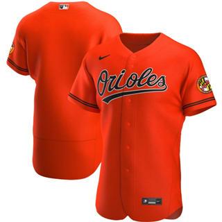Men's Baltimore Orioles 2020 Orange Alternate Authentic Official Team Baseball Jersey