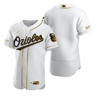 Men's Baltimore Orioles Blank White 2020 Authentic Golden Edition Baseball Jersey