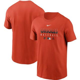 Men's Baltimore Orioles Orange Authentic Collection Team Performance T-Shirt