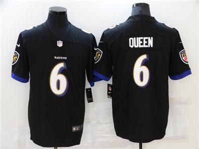 Men's Baltimore Ravens #6 Patrick Queen Black Vapor Untouchable Limited Stitched Jersey