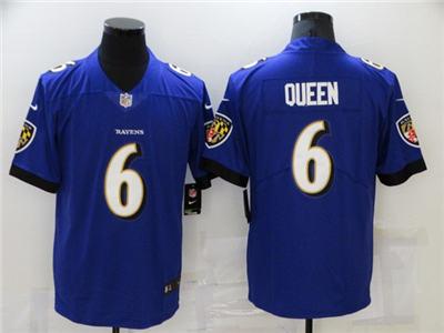 Men's Baltimore Ravens #6 Patrick Queen Purple Vapor Untouchable Limited Stitched Jersey