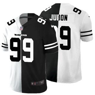 Men's Baltimore Ravens #99 Matthew Judon Black V White Peace Split Vapor Untouchable Limited Football Jersey
