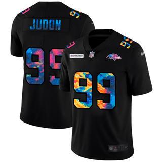 Men's Baltimore Ravens #99 Matthew Judon Multi-Color Black 2020 Football Crucial Catch Vapor Untouchable Limited Jersey