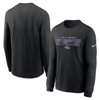 Men's Baltimore Ravens Fan Gear Playbook Long Sleeve T-Shirt Black