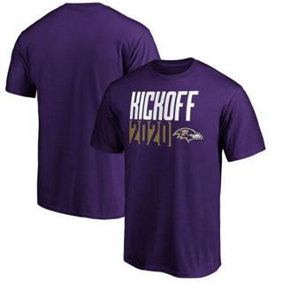 Men's Baltimore Ravens Kickoff 2020 T-Shirt Purple