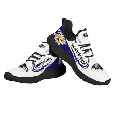 Men's Baltimore Ravens Mesh Knit Sneakers 1