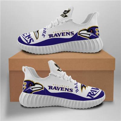 Men's Baltimore Ravens Mesh Knit Sneakers 8