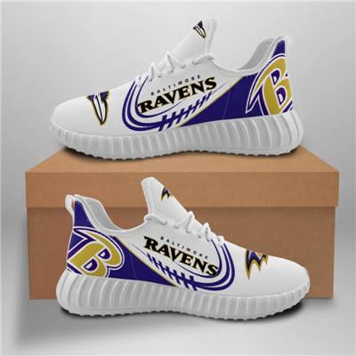 Men's Baltimore Ravens Mesh Knit Sneakers 9