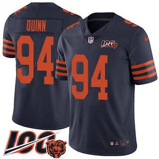 Men's Bears #94 Robert Quinn Navy Blue Alternate Stitched Football 100th Season Vapor Untouchable Limited Jersey