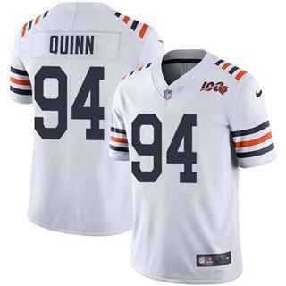 Men's Bears #94 Robert Quinn White Alternate Stitched Football Vapor Untouchable Limited 100th Season Jersey