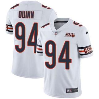 Men's Bears #94 Robert Quinn White Stitched Football 100th Season Vapor Untouchable Limited Jersey
