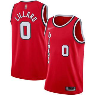 Men's Blazers #0 Damian Lillard Red Basketball Swingman Hardwood Classics Jersey