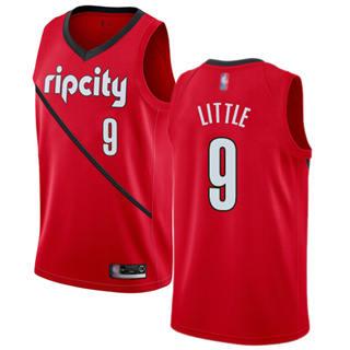 Men's Blazers #9 Nassir Little Red Basketball Swingman Earned Edition Jersey