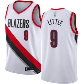 Men's Blazers #9 Nassir Little White Basketball Swingman Association Edition Jersey