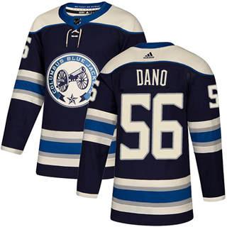 Men's Blue Jackets #56 Marko Dano Navy Alternate Authentic Stitched Hockey Jersey