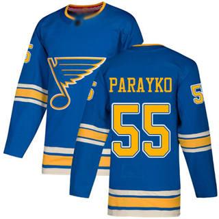Men's Blues #55 Colton Parayko Blue Alternate Authentic Stitched Hockey Jersey