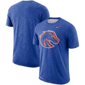 Men's Boise State Broncos  Sideline Performance Cotton Slub T-Shirt - Royal