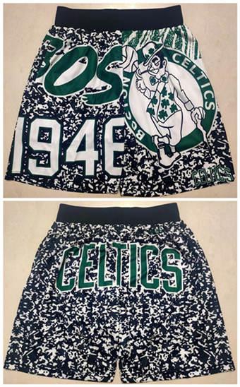 Men's Boston Celtics Black Mitchel&lNess Basketball Shorts (Run Small)