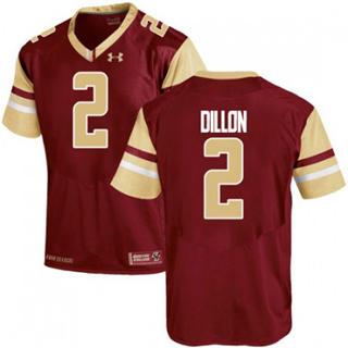 Men's Boston College Eagles #2 AJ Dillon Maroon 2019 College Football Jersey