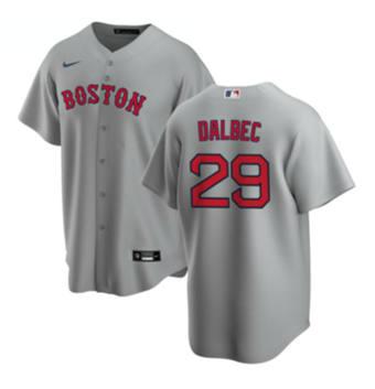 Men's Boston Red Sox #29 Bobby Dalbec Gray Cool Base Stitched Baseball Jersey