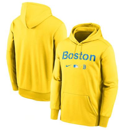 Men's Boston Red Sox 2021 Gold Pullover Baseball Hoodie