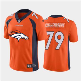 Men's Broncos #79 Lloyd Cushenberry III Orange Football Team Big Logo Fashion Vapor Limited Jersey