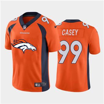 Men's Broncos #99 Jurrell Casey Orange Football Team Big Logo Fashion Vapor Limited Jersey