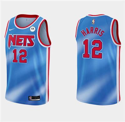 Men's Brooklyn Nets #12 Joe Harris Blue Stitched Basketball Jersey