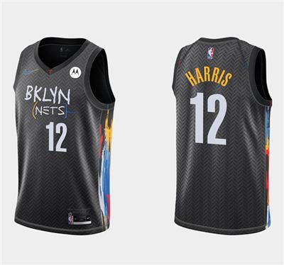 Men's Brooklyn Nets #12 Joe Harris Stitched Basketball Jersey