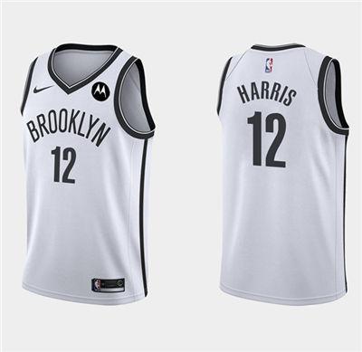 Men's Brooklyn Nets #12 Joe Harris White Stitched Basketball Jersey