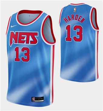 Men's Brooklyn Nets #13 James Harden 2020-2021 Blue Stitched Basketball Jersey