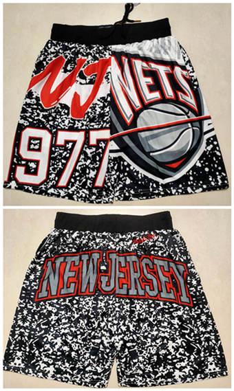 Men's Brooklyn Nets Black Mitchell&Ness Basketball Shorts (Run Small)