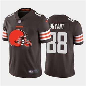 Men's Browns #88 Harrison Bryant Brown Football Team Big Logo Fashion Vapor Limited Jersey