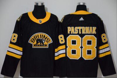 Men's Bruins #88 David Pastrnak Black Authentic 3D Throwback Stitched Hockey Jersey