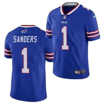 Men's Buffalo Bills #1 Emmanuel Sanders Blue Vapor Untouchable Limited Stitched Football Jersey