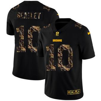 Men's Buffalo Bills #10 Cole Beasley Black Flocked Lightning Vapor Limited Football Jersey