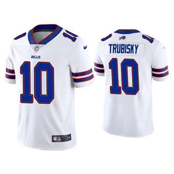 Men's Buffalo Bills #10 Mitchell Trubisky White Vapor Untouchable Limited Stitched Football Jersey