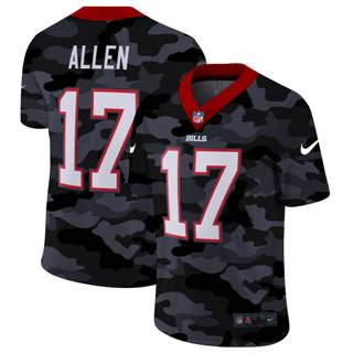 Men's Buffalo Bills #17 Josh Allen 2020 Black CAMO Vapor Untouchable Limited Stitched Football Jersey