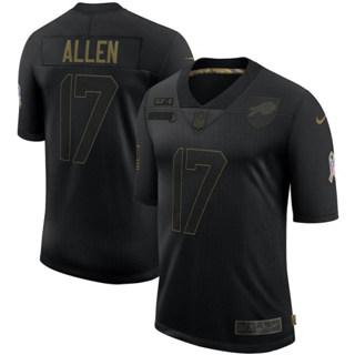Men's Buffalo Bills #17 Josh Allen 2020 Salute To Service Black Limited Football Jersey