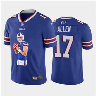 Men's Buffalo Bills #17 Josh Allen Player Signature Moves 2 Vapor Limited Football Jersey Royal Blue