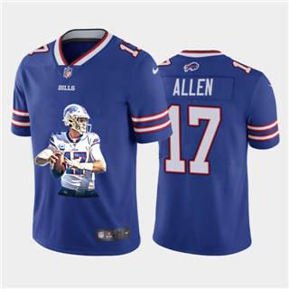 Men's Buffalo Bills #17 Josh Allen Player Signature Moves Vapor Limited Football Jersey Royal Blue