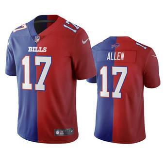 Men's Buffalo Bills #17 Josh Allen Royal & Red Vapor Limited Stitched Jersey