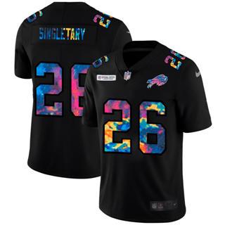Men's Buffalo Bills #26 Devin Singletary Multi-Color Black 2020 Football Crucial Catch Vapor Untouchable Limited Jersey