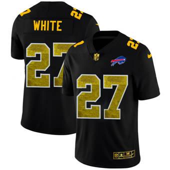 Men's Buffalo Bills #27 Tre'Davious White Black Golden Sequin Vapor Limited Football Jersey