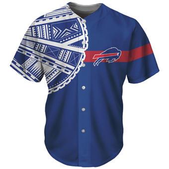 Men's Buffalo Bills Blue Baseball Jersey
